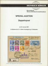 "[38623] HEINRICH KÖHLER SPEZIZL-AUKTON ""ZEPPELINPOST"" am 30, Januar 2001 - 92 pg"