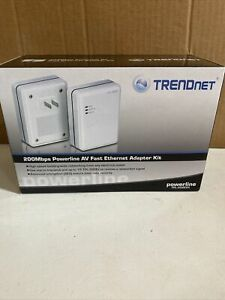 TRENDnet Powerline AV Fast Ethernet Adapter Kit, New Opened Box TPL-302E2K