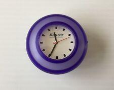 Purple round SMALL CLOCK suction sticky wall table analogue baxter hyland immuno