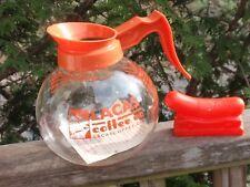 2 ORANGE  KITCHEN ITEMS  LACAS COFFEE DECAF GLASS POT  VINTAGE OSCAR MEYERMOBILE