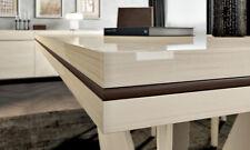 Esstisch Speisetisch Küchentisch Lärche Weiß Hochglanz Modern Stil Möbel Italien