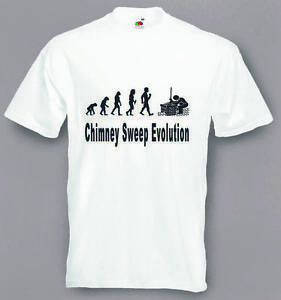 Evolution To Chimney Sweep t-shirt Funny T-shirt sizes Sm To 2XXL
