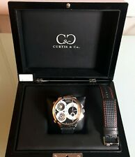 Curtis & Co Big Time World Swiss Made Limited Edition Watch w/ New Leather band
