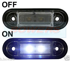12V/24V FLUSH FIT WHITE FRONT LED MARKER LAMP / LIGHT TRUCK VAN KELSA BAR RDX