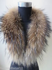 free shipping/real handmade Whole hide  Raccoon  fur collar/scarf / 80cm*16cm
