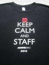 ANIME EXPO 2013 keep calm & staff XL T-SHIRT