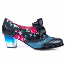 Irregular Choice 'Corporate Beauty' (Y) Black Floral Mid Heel Shoes