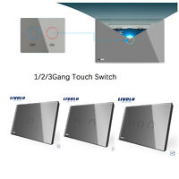 LIVOLO AU Type Grey Electric Home Wall 1/2/3Gang 2Way Touch Switch