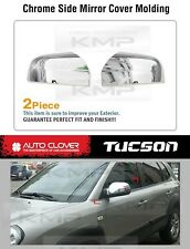 Side Mirror Cover Chrome Molding Cover Trim A368 Fit HYUNDAI 2005-2009 Tucson