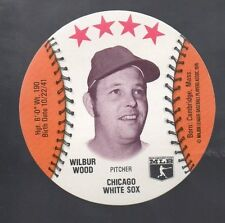 1976 ISALY'S SWEET WILLIAM FAMILY REST. DISC CARD WILBUR WOOD CHICAGO WHITE SOX