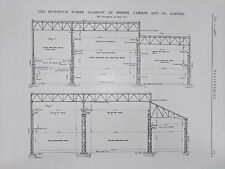 Scotstoun Works: Roof Over Fitting Out Basin: 1908 Engineering Magazine Print