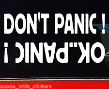 4x4 Stickers 4wd Turbo Diesel Ute Wagon Winch Funny Car DONT PANIC 200mm
