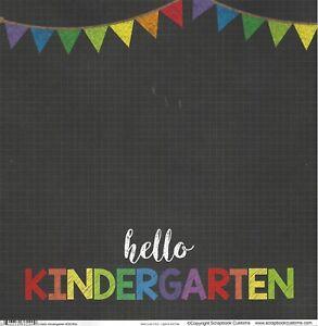 Scrapbook Customs - Hello Kindergarten Scrapbooking Paper 38290 Double Sided