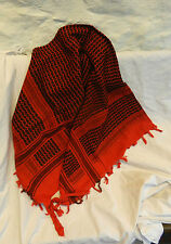 Rosso e Nero 100% Heavy Cotton arabo/Arabo Stile Sciarpa-Large-Nuovo con Scatola