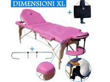 camilla de masaje 3 zonas ROSA + Soporte Portarrollo mesa Cama portatil plegable