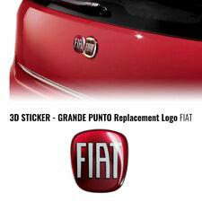 Adesivo Fiat 3D Ricambio Logo Anteriore + Posteriore per Grande Punto