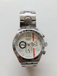 "Men's SWATCH ""Irony"" Tachymeter AG-2011 Quartz Swiss Made Watch / New Battery"