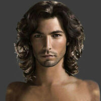 Medieval Fashion Cool Wigs Short Natural Hair Chocolate Color Handsome Wig Men