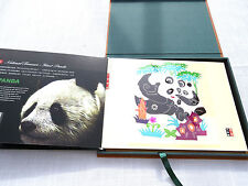 Giant Panda Paper cut and Stamp Collection Book