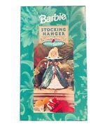 Hallmark Holiday Barbie Christmas Stocking Hanger 1996 (XSH3101) BOXED NEW!