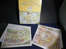 Angelina Ballerina's Puzzle Box Set 4 Puzzles with Story on back Dance snow Play