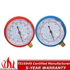 2pcs Air Conditioner R410A R134A R22 Refrigerant Low&High Pressure Gauge PSI KPA