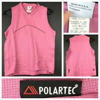 Cannondale Womens Medium (36 in Chest) Pink Sleeveless 1/4 Zip Cycling Jersey