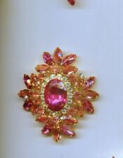 Pink Clear Huge Maltese Prong Set pin