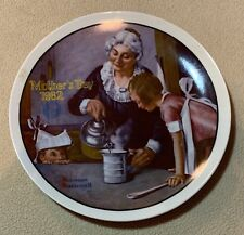"""The Cooking Lesson"" By Norman Rockwell Collectors Plate Mothers Day 1982"
