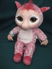 "Jakks Pacific ANIMAL BABIES Deluxe Electronic 14"" Plush PINK GIRAFFE Doll TESTED"
