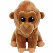 "Ty Beanie Baby MONROE the Oranguta Glitter Eye 6"" Small Plush Stuff Animal (New"