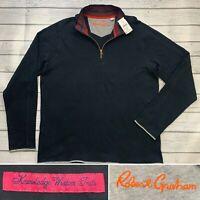 Robert Graham - XL - Elliot Knit Sweater - Mens X-Large - Black - Classic Fit