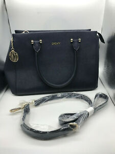 Ladies Leather Navy DKNY Shoulder Handbag 2503 - New (SG120F)