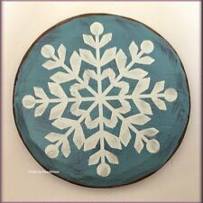 SNOWFLAKE WOODEN MAGNETIC TOKEN BY MARK THE MOMENT FREE U.S. SHIPPING
