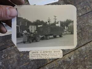 Circus Photo, James E Strates Shows, No. 153 Wagon, Clearfield, PA.