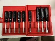 Xcelite Metric Nutdriver Set,4-13mm,10pc with case