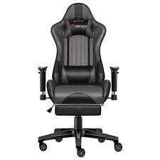 JL Comfurni Chefsessel Lehnstuhl höhenverstellbar Gaming Stuhl Bürostuhl Grau
