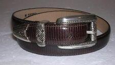 "Brighton Womens Medium 35 1/2"" Brown Leather Belt 38909"