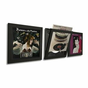Art Vinyl Play And Display Record Frame Black 3er Pack