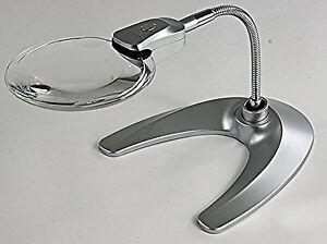 Magnifier, LED,Desk Stand, Portable Gooseneck Magnifier 2X & 4XMAG (DSGN2X4XLED)