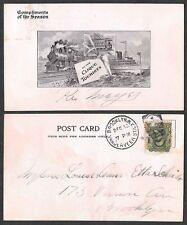 Old Transportation Postcard - Clique Tourists - Train, Streetcar, Ship