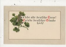 Ewig Lebe Alte Deutsche Treue Germany Vintage Patriotic Postcard 008b