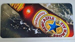 1 x Newcastle Brown Ale Neoprene Style Bar Runner New