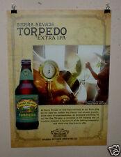 SIERRA NEVADA BEER POSTER TORPEDO EXTRA IPA CRAFT BEER