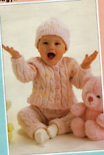 pretty baby set chunky knitting pattern 99p