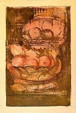 GIUSEPPE AJMONE litografia Cesto di Frutta  70x50 firmata numerata
