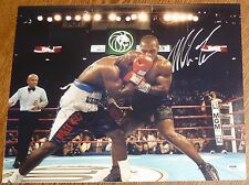 Mike Tyson Signed 16x20 Photo PSA/DNA COA Auto Picture Biting Evander Holyfield