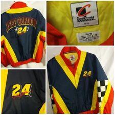 Vintage NASCAR Jeff Gordon #24 Racing Zip Jacket Coat Checkered Youth XL 16/18