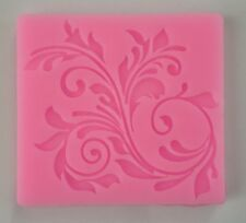 Lace Flower Scroll Silicone Fondant Mold Cake Cupcake Flower Embossing Dama