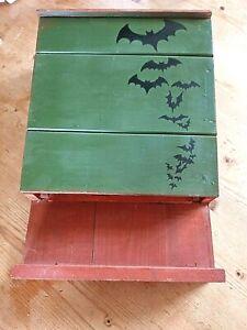 Bat Box Handmade  wooden Bat box New Unused Green